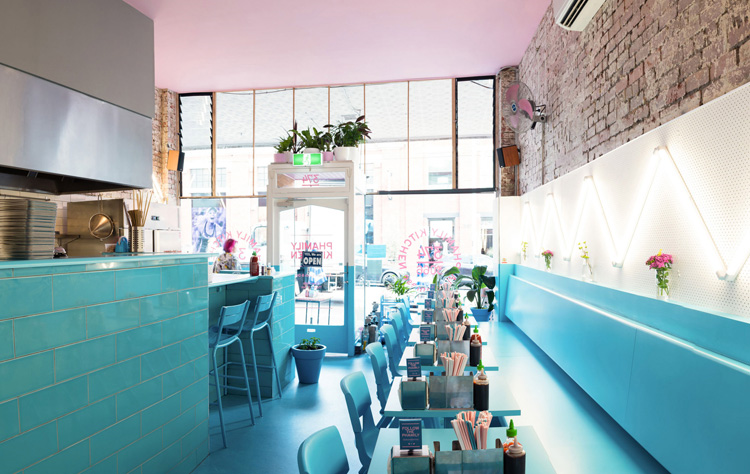 Restaurante Phamily Kitchen en Collingwood, Australia.