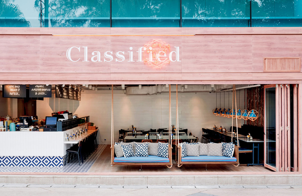 Cafetería Classified Repulse Bay en Hong Kong, diseño de Substance