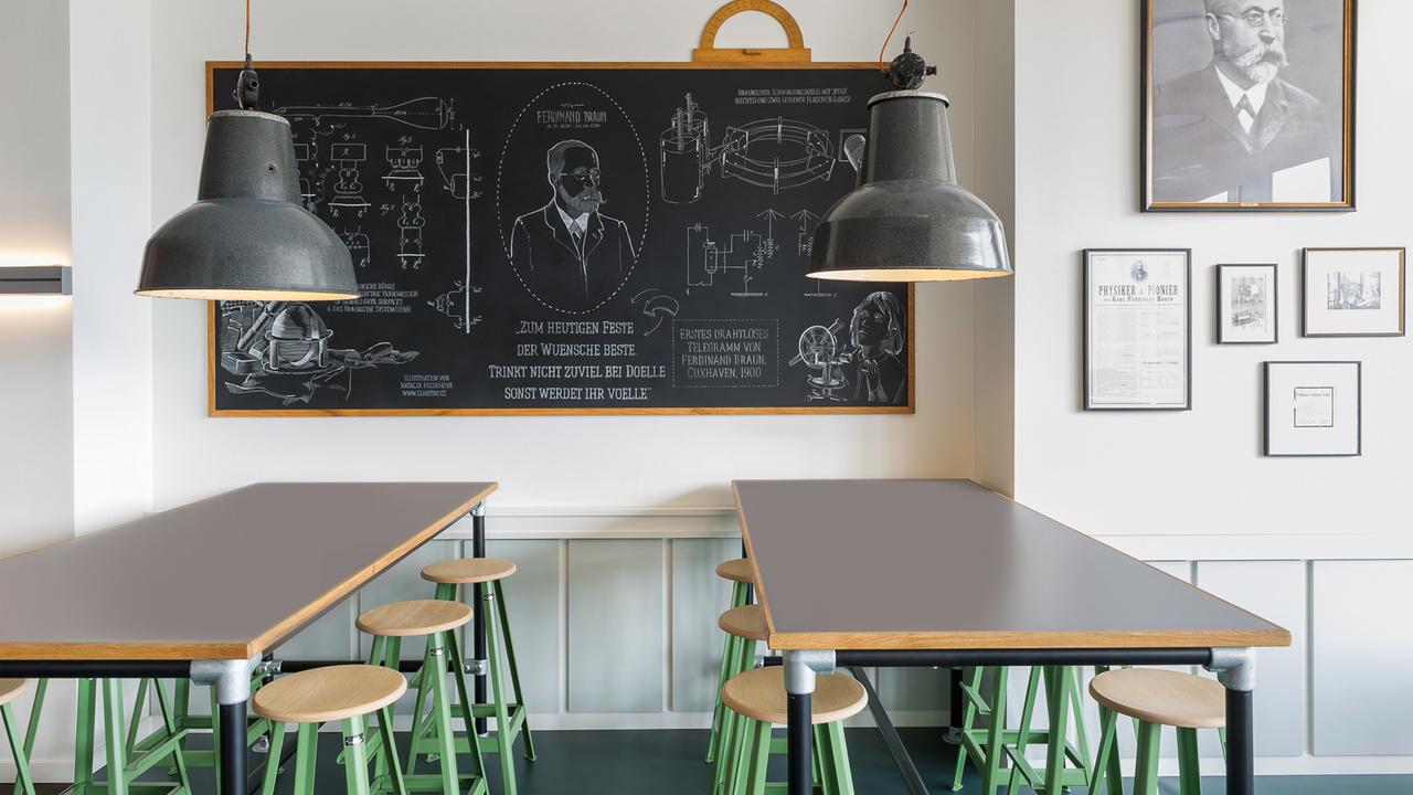 Café Ferdinand en Hamburgo, diseño de Aerogram Studio