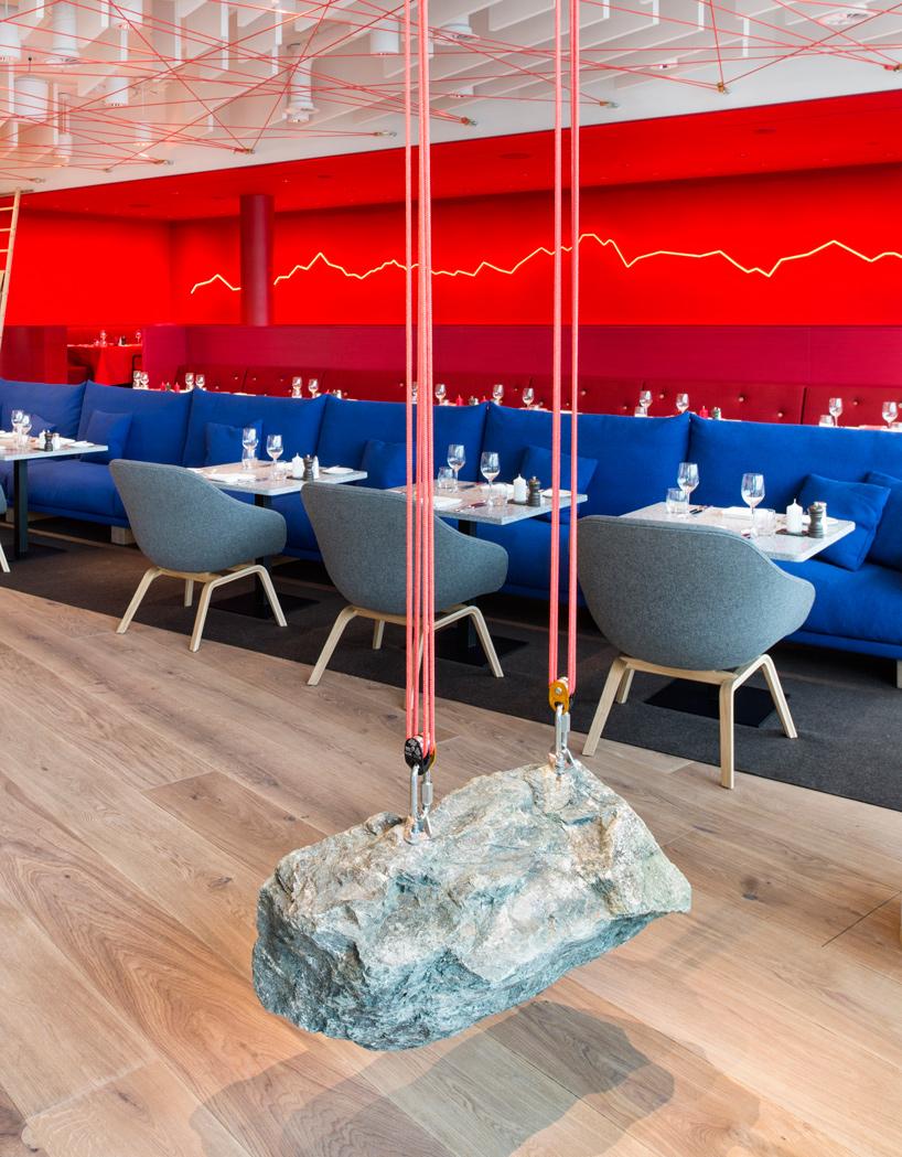 Restaurante Saltz en el Dolder Grand Hotel de Suiza, diseño de Rolf Sachs
