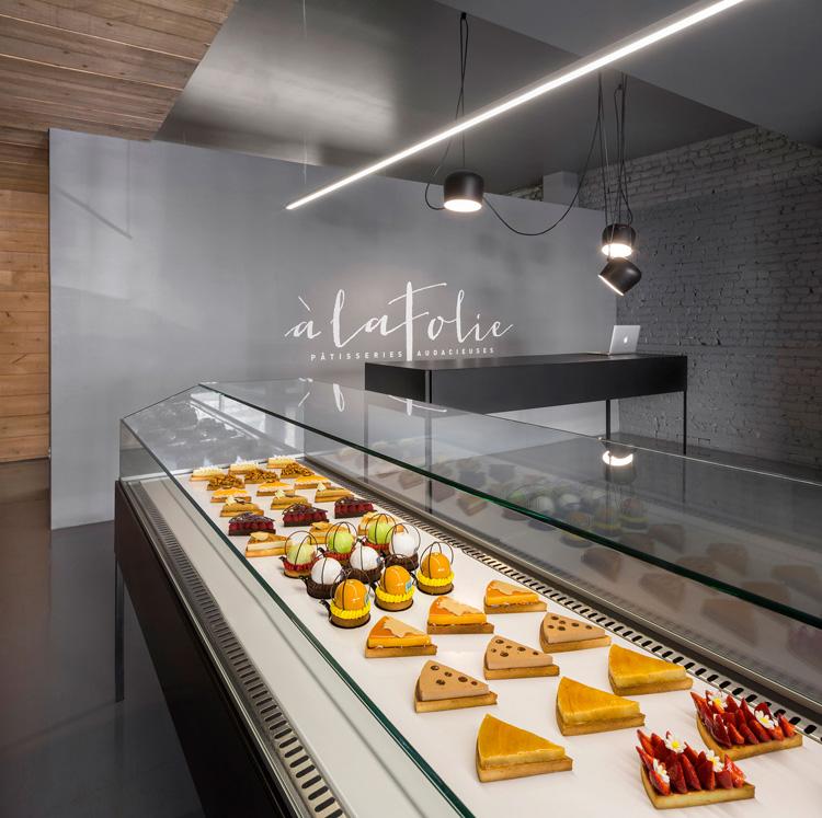 Pastelería  À La Folie en Montreal. Diseño de Atelier Moderno y Anne Sophie Goneau