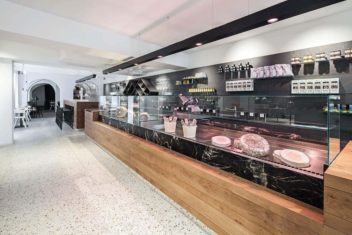 Lingenhel espacio gourmet en Viena diseño de Destilat 2
