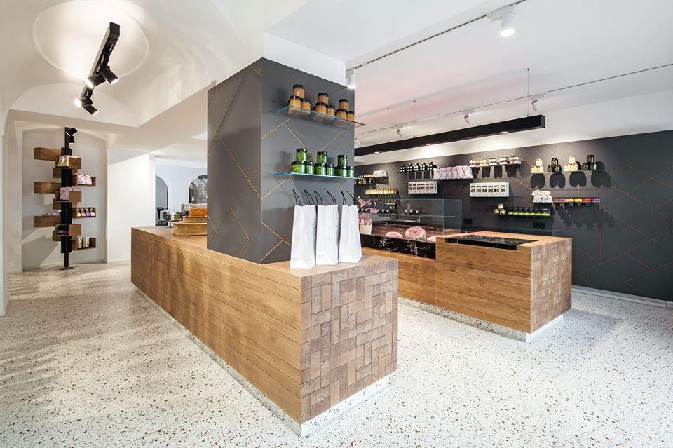 Lingenhel espacio gourmet en Viena diseño de Destilat 7