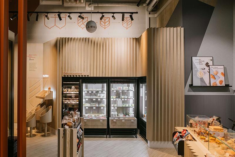 Panadería-cafetería Pouly en Suiza, diseñadas por Author Studio